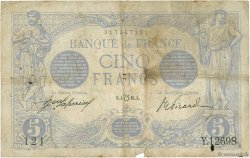 5 Francs BLEU lion inversé FRANCE  1917 F.02bis.04 B+