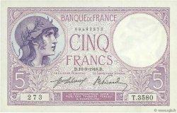 5 Francs VIOLET FRANCE  1918 F.03.02