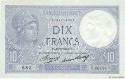 10 Francs MINERVE FRANCE  1937 F.06.18 TTB