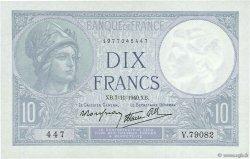 10 Francs MINERVE modifié FRANCE  1940 F.07.19 NEUF