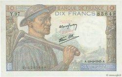 10 Francs MINEUR FRANCE  1945 F.08.13 SUP+