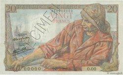 20 Francs PÊCHEUR FRANCE  1942 F.13.00 TTB à SUP