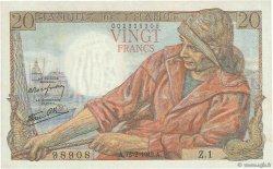 20 Francs PÊCHEUR FRANCE  1942 F.13.01 pr.SPL