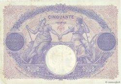 50 Francs BLEU ET ROSE FRANCE  1919 F.14.32 TTB