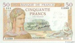 50 Francs CÉRÈS FRANCE  1936 F.17.32 SUP