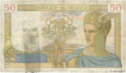 50 Francs CÉRÈS modifié FRANCE  1938 F.18.08 B