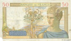 50 Francs CÉRÈS modifié FRANCE  1938 F.18.09 TB+