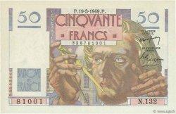 50 Francs LE VERRIER FRANCE  1949 F.20.12 NEUF