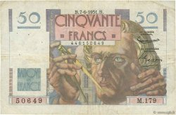 50 Francs LE VERRIER FRANCE  1951 F.20.18 pr.TB