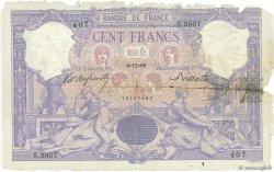 100 Francs ROSE ET BLEU FRANCE  1899 F.21.12 AB
