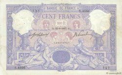 100 Francs BLEU ET ROSE FRANCE  1907 F.21.22 TB+