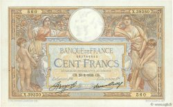 100 Francs LUC OLIVIER MERSON grands cartouches FRANCE  1933 F.24.12 SUP+