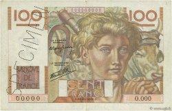 100 Francs JEUNE PAYSAN FRANCE  1945 F.28.00s2 TTB