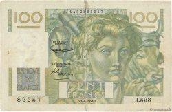 100 Francs JEUNE PAYSAN filigrane inversé FRANCE  1954 F.28bis.06 B