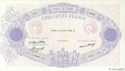 500 Francs BLEU ET ROSE FRANCE  1936 F.30.37 pr.SUP