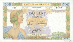 500 Francs LA PAIX FRANCE  1941 F.32.20 SPL