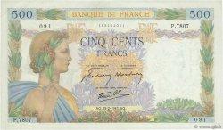 500 Francs LA PAIX FRANCE  1943 F.32.45 SUP