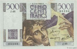 500 Francs CHATEAUBRIAND FRANCE  1945 F.34.03 TTB+
