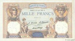 1000 Francs CÉRÈS ET MERCURE FRANCE  1927 F.37.01 SUP