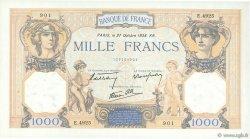 1000 Francs CÉRÈS ET MERCURE type modifié FRANCE  1938 F.38.31 SUP+