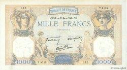 1000 Francs CÉRÈS ET MERCURE type modifié FRANCE  1940 F.38.44 SUP