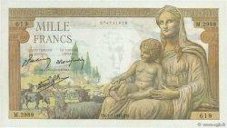 1000 Francs DÉESSE DÉMÉTER FRANCE  1943 F.40.15 NEUF