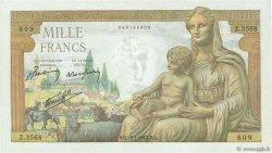 1000 Francs DÉESSE DÉMÉTER FRANCE  1943 F.40.17 NEUF