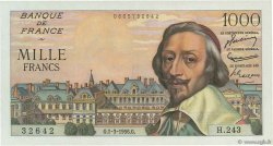 1000 Francs RICHELIEU FRANCE  1956 F.42.19 SPL