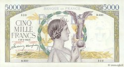5000 Francs VICTOIRE Impression à plat FRANCE  1942 F.46.37 pr.SPL