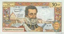 50 Nouveaux Francs HENRI IV FRANCE  1959 F.58.02 pr.SUP
