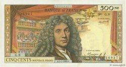 500 Nouveaux Francs MOLIÈRE FRANCE  1963 F.60.04 TTB+