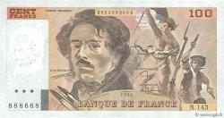 100 Francs DELACROIX imprimé en continu FRANCE  1990 F.69bis.01b2 TTB+