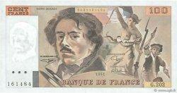 100 Francs DELACROIX imprimé en continu FRANCE  1991 F.69bis.03c1 SPL