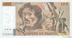100 Francs DELACROIX 442-1 & 442-2 FRANCE  1994 F.69ter.01b NEUF