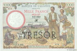 1000 Francs Algérie FRANCE  1943 VF.10.01 SUP