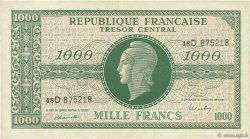 1000 Francs MARIANNE Chiffres maigres FRANCE   VF.13.01 pr.SUP