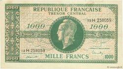 1000 Francs MARIANNE Chiffres maigres FRANCE  1945 VF.13.03 TTB+