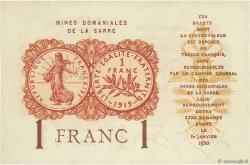 1 Franc MINES DOMANIALES DE LA SARRE FRANCE  1920 VF.51.06 NEUF