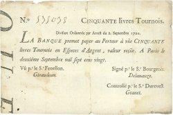 50 Livres FRANCE  1720 Laf.96 TB