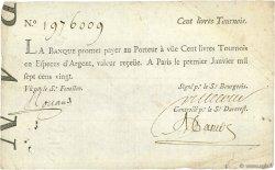 100 Livres FRANCE  1720 Laf.90 TB à TTB
