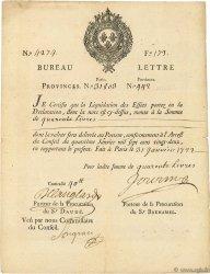 40 Livres FRANCE  1722 Laf.-- TTB