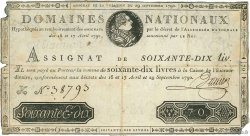 70 Livres FRANCE  1790 Ass.06a TB