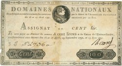 100 Livres FRANCE  1791 Ass.15a TB+