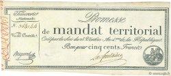 500 Francs sans série FRANCE  1796 Ass.62a pr.SPL