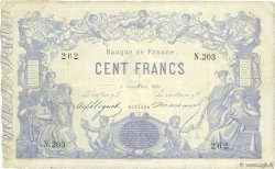 100 Francs type 1862 Indices Noirs FRANCE  1869 F.A39.05 TB