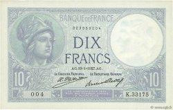10 Francs MINERVE FRANCE  1927 F.06.12 SUP+