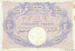 50 Francs BLEU ET ROSE FRANCE  1912 F.14.25 TTB