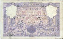 100 Francs BLEU ET ROSE FRANCE  1902 F.21.16 pr.TB