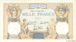 1000 Francs CÉRÈS ET MERCURE type modifié FRANCE  1938 F.38.10 SUP