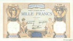 1000 Francs CÉRÈS ET MERCURE type modifié FRANCE  1938 F.38.29 pr.SPL